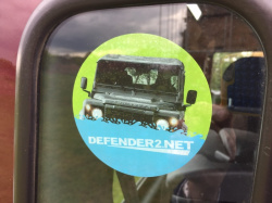 DEFENDER2.NET Round Window Sticker
