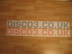 DISCO3.CO.UK Side Stickers